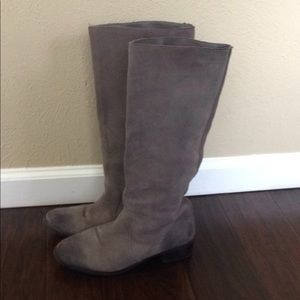 BDG Gray Suede Tall Boots